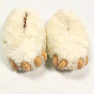 New Carousel Warm, Fuzzy Polar Bear Slippers 3-4